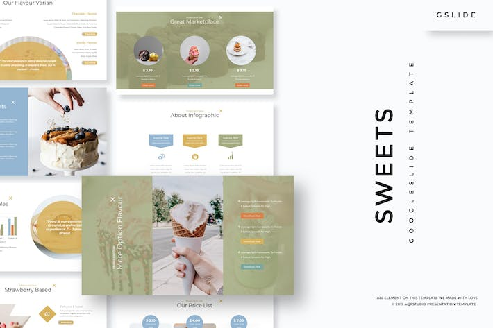 Thumbnail for Sweets - Google Slides Template