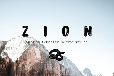 Zion   Fuente Grunge erosionada