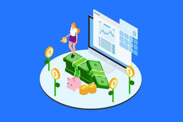 Thumbnail for Financial Allocation For Projects Isometric - TU