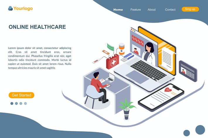 Thumbnail for ONLINE HEALTHCARE Landing Page