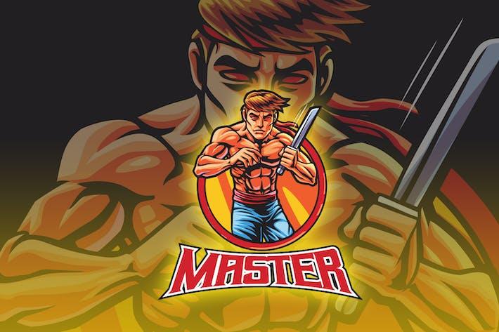 Thumbnail for Kämpfer Mann Esport Logo