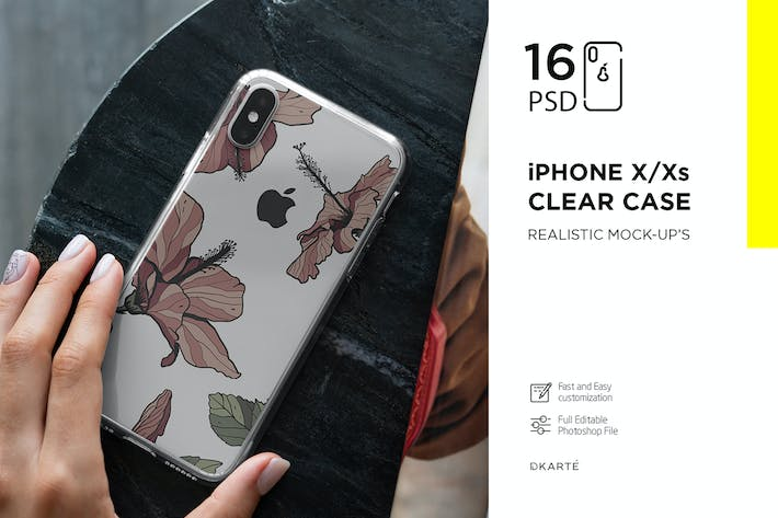 Thumbnail for iPhone Xs Clear Case Mock-Up vol.2