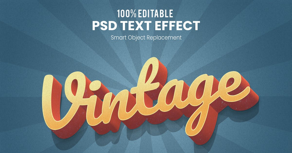 Download Vintage 3D Text Effect by nathatype