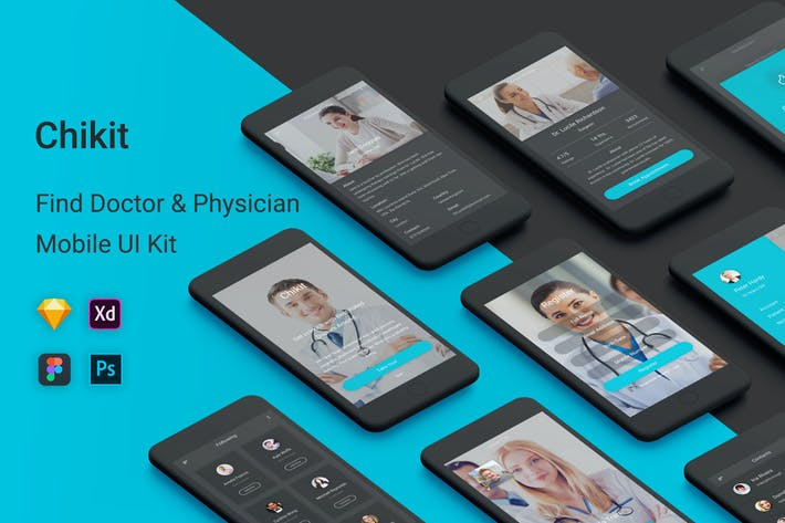Thumbnail for Chikit - Find Doctor & Physician UI Kit