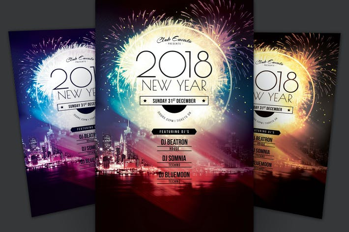 Cover Image For 2018 New Year Flyer