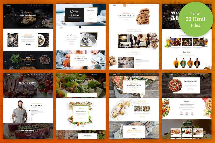 Delice - eCommerce Food & Restaurant  Template