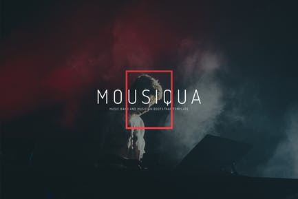 Mousiqua - Music Band and Musician Template