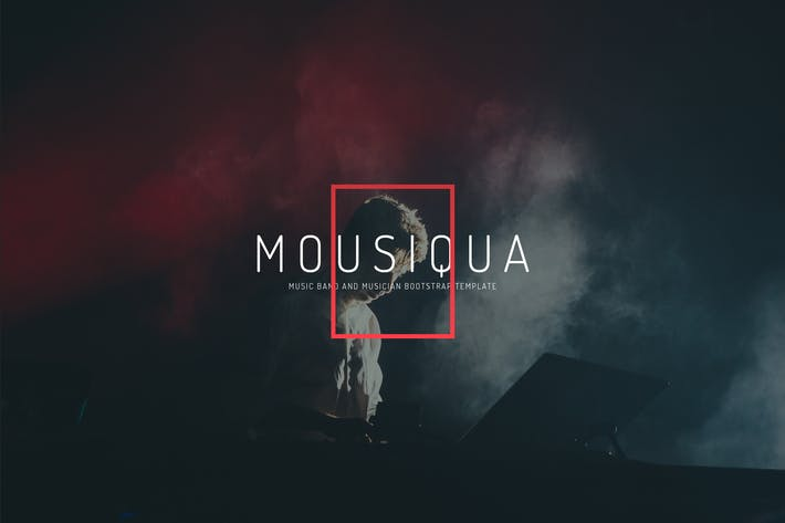 Cover Image For Mousiqua - Music Band and Musician Template