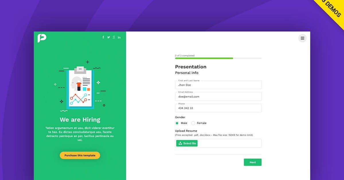 Download Potenza - Job Application Form Wizard by Ansonika