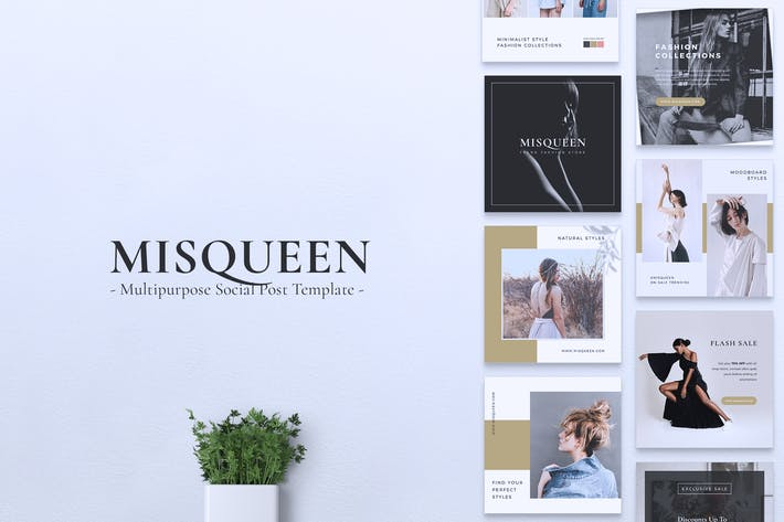 Thumbnail for MISQUEEN Fashion Instagram & Facebook Post
