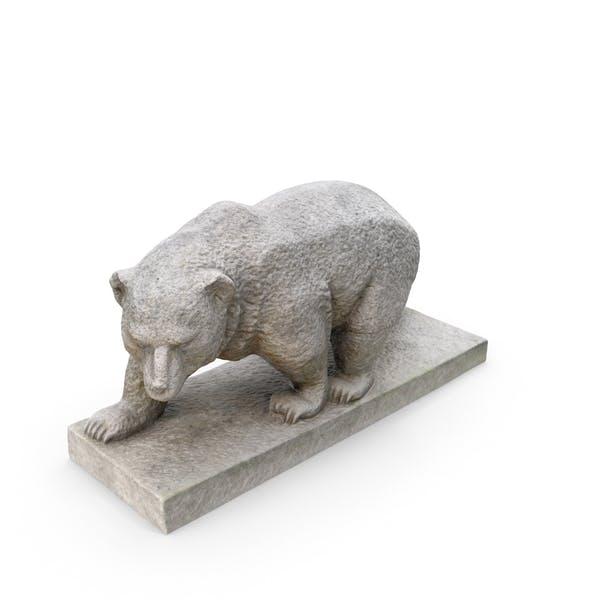 Stone Bear Statue