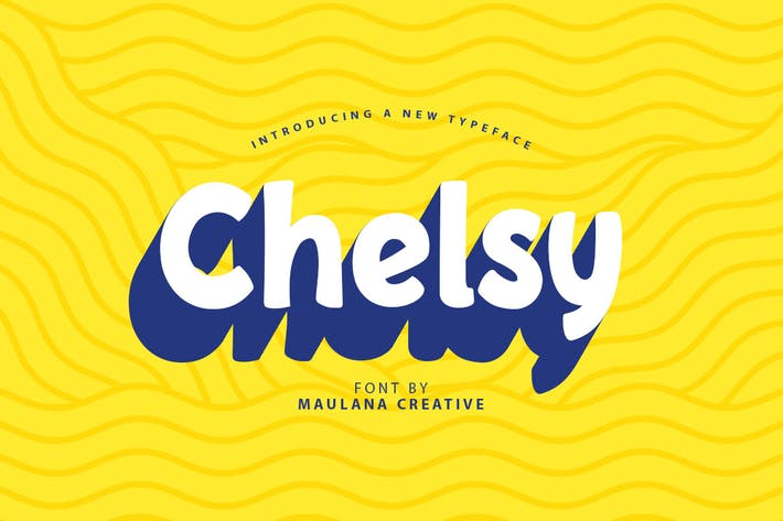 Thumbnail for Челси - милые шрифт без