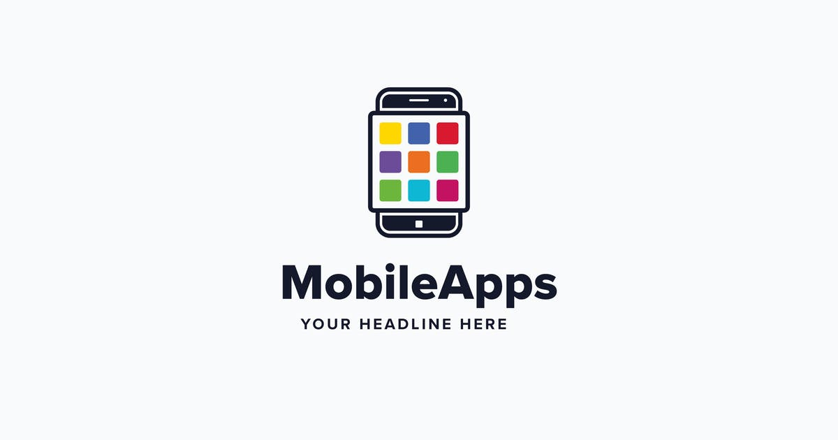 Download Mobile Apps Logo Template by Pixasquare