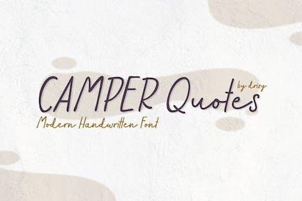 Citations de camping-car