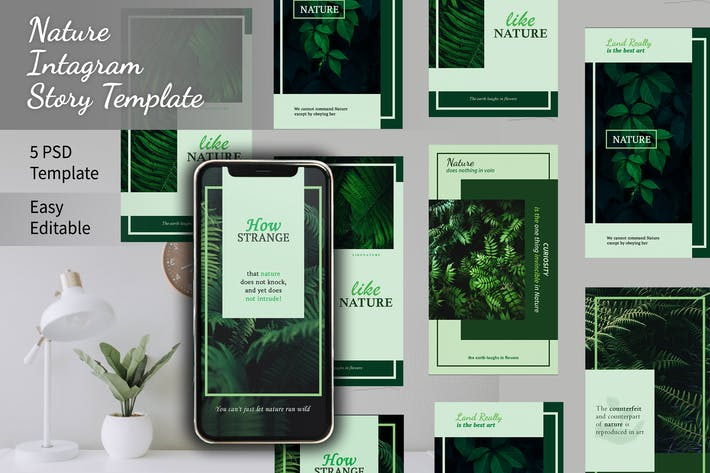 Thumbnail for Nature Instagram Story Template