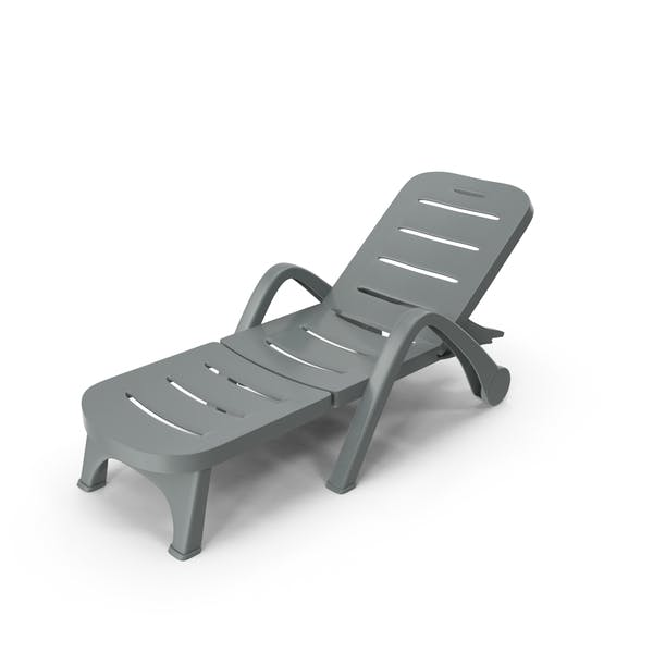 Plastic Sunlounger Grey