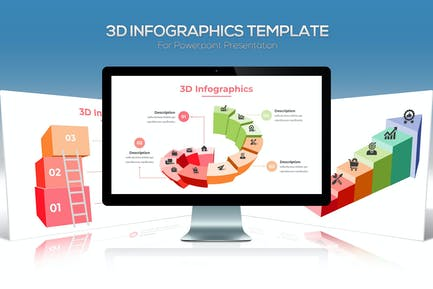 3D Infographics For Powerpoint Presentation