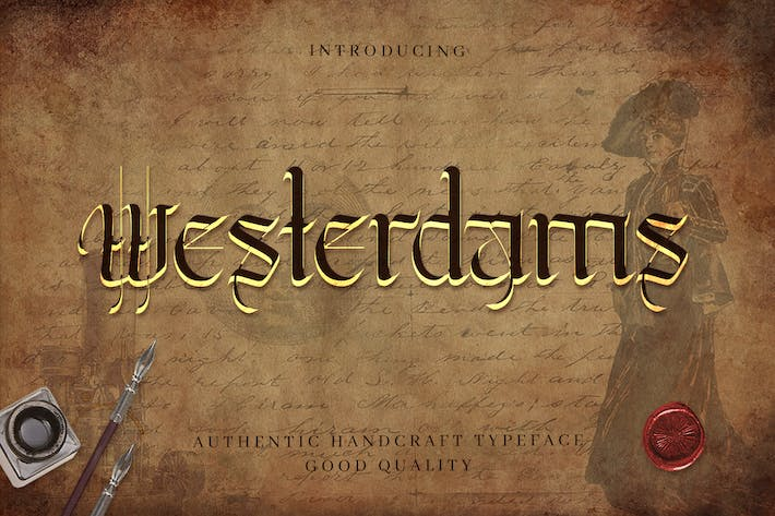 Thumbnail for Westerdams - Calligraphie artisanale vintage