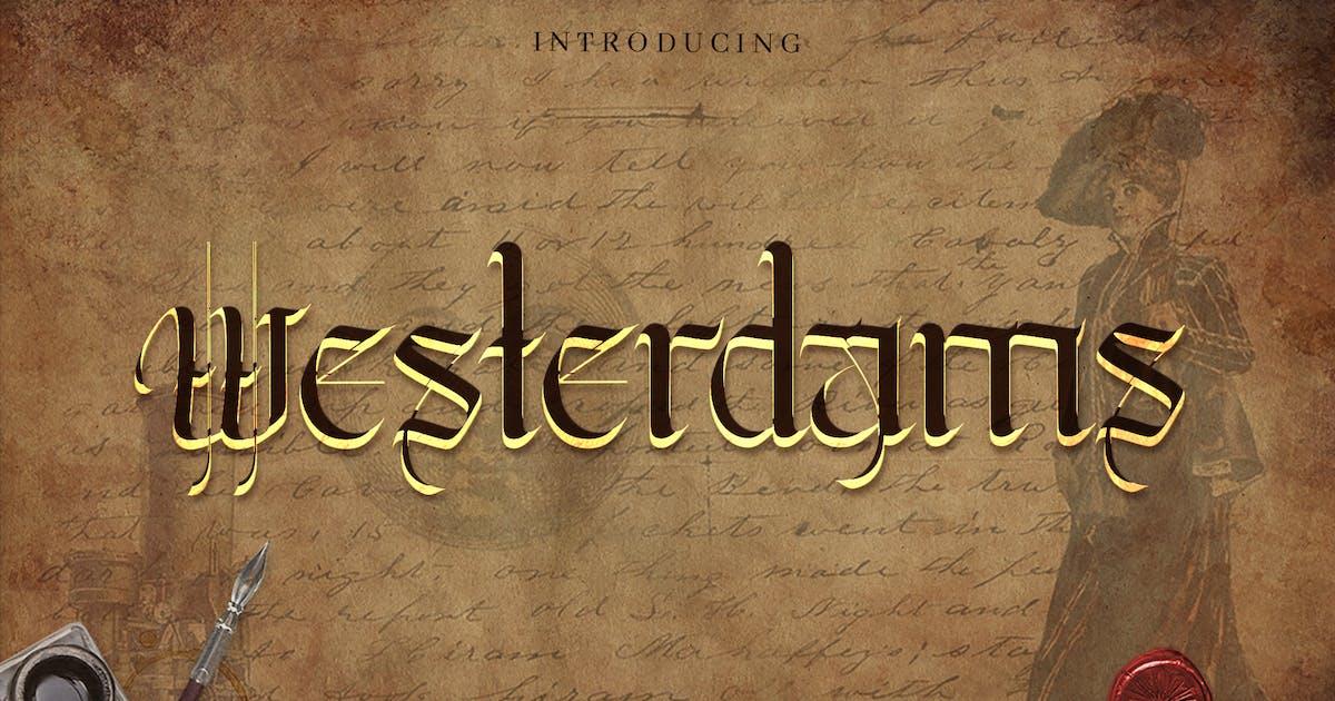 Download Westerdams - Vintage Handcraft Calligraphy by naulicrea