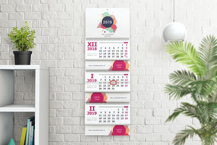 Thumbnail for Wall Calendar Mockups 02