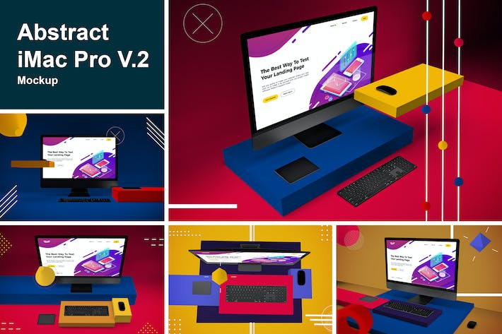 Thumbnail for Abstract iMac Pro V.2 Mockup