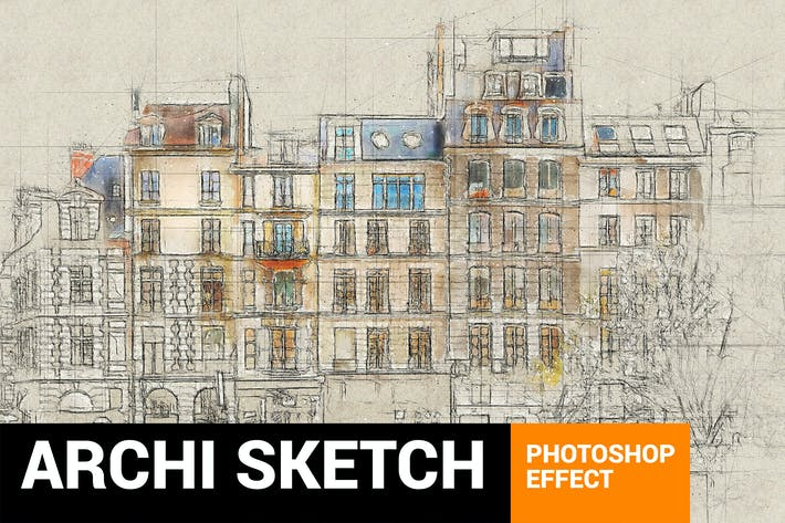 Thumbnail for Architectum 3 - Archi Sketcher Photoshop Plugin