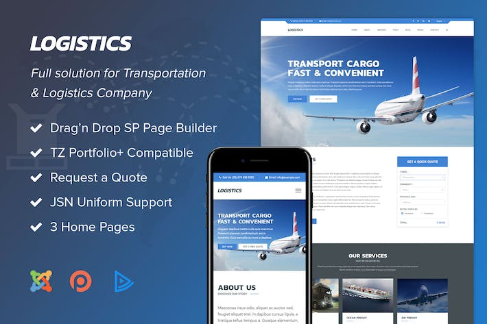 Thumbnail for Logistics - Transportation Joomla Template