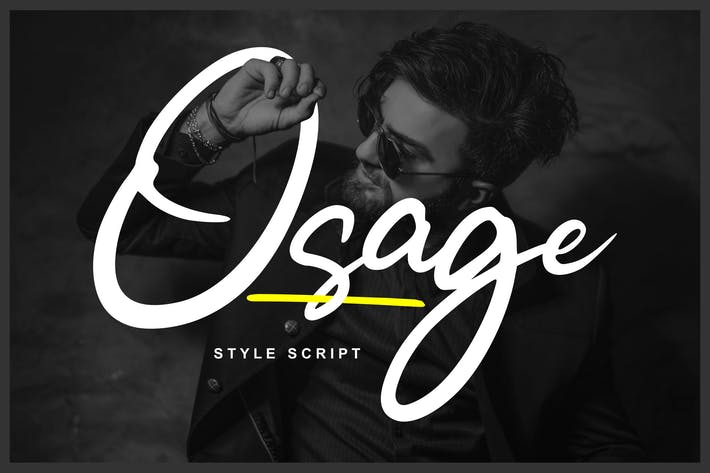 Thumbnail for Osage | Style Script Font