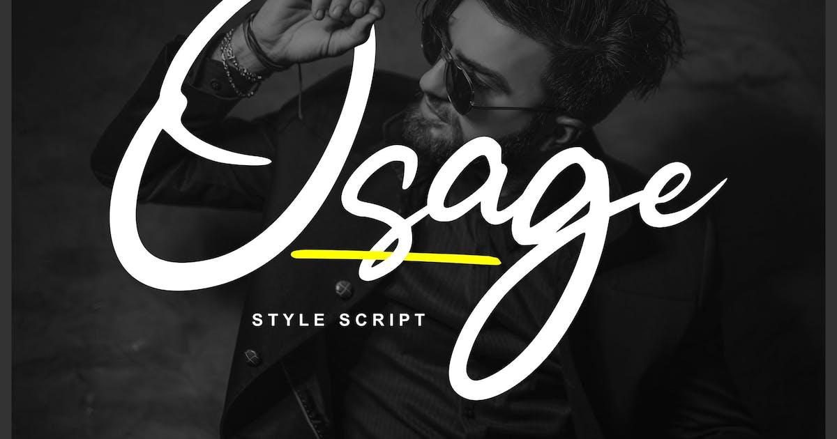 Download Osage | Style Script Font by Vunira