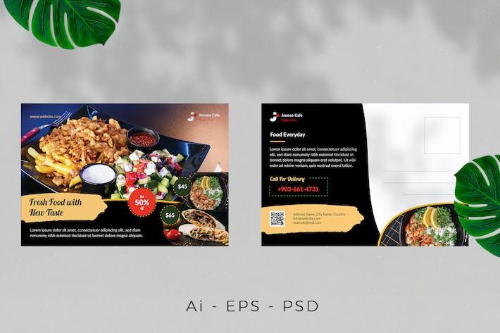 Thumbnail for Food Restaurant Postcard Design