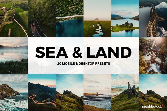 Thumbnail for 20 Sea & Land Lightroom Presets and LUTs