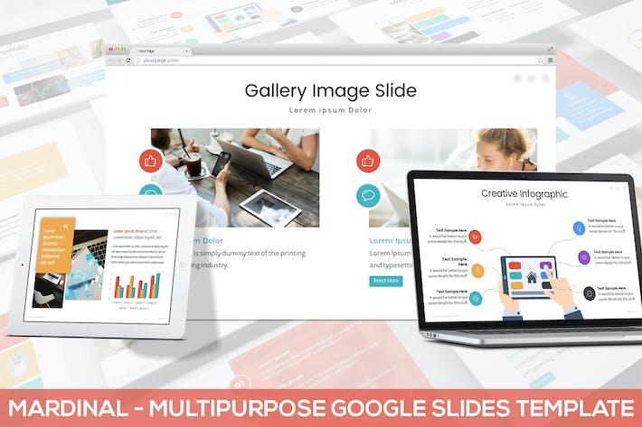 Thumbnail for Mardinal - Multipurpose Google Slides Template