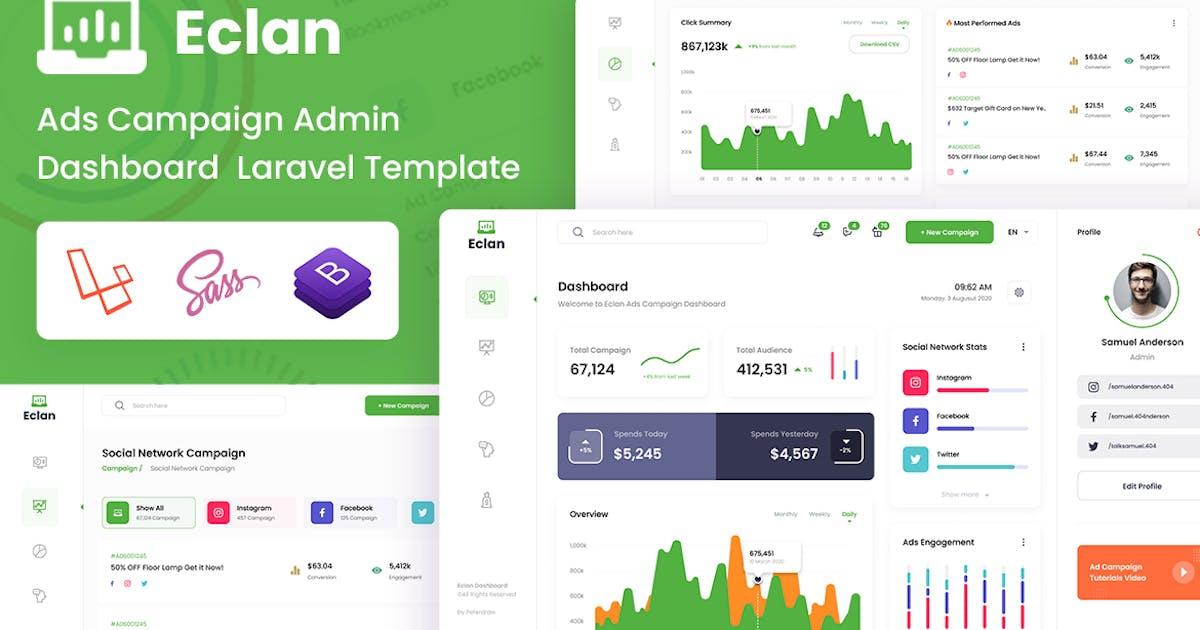 Download Ads Campaign Laravel & Bootstrap Admin Dashboard by DexignZone