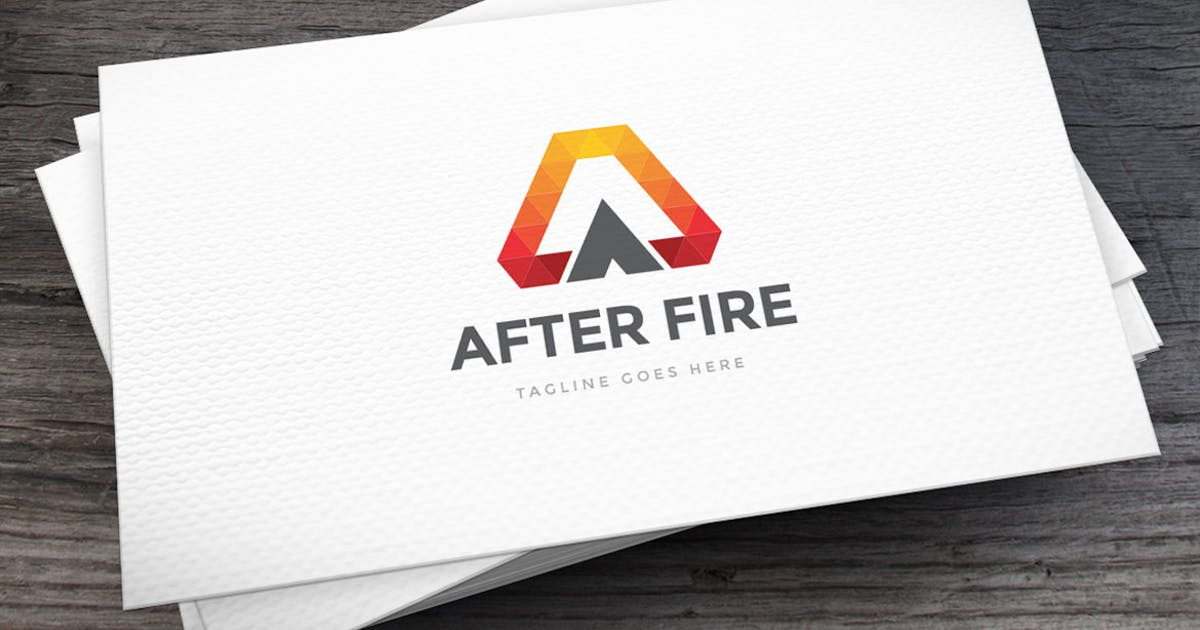 Download After Fire Letter A Logo Template by empativo
