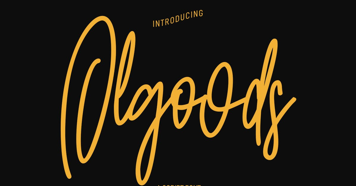 Download Olgoods Script Font by maulanacreative