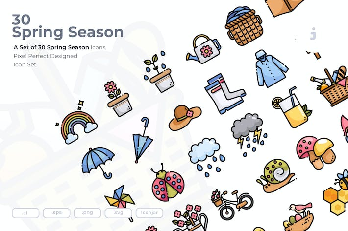 Thumbnail for 30 Spring Season Icons