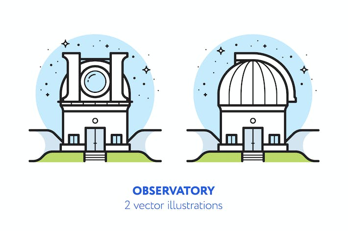 Thumbnail for Observatory vector illustration