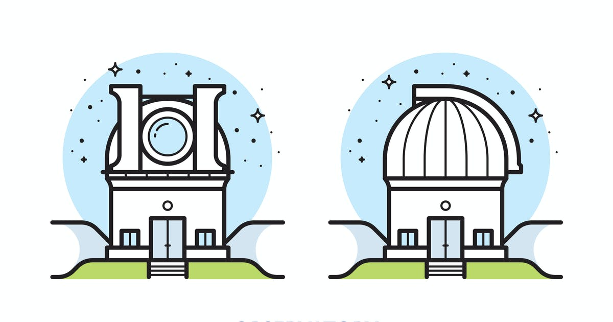 Observatory vector illustration by mir_design