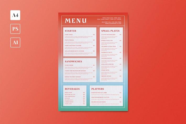 Thumbnail for Trendy Food Menu