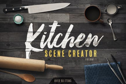 Kitchen Scene Creator Volume 1