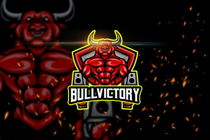 Thumbnail for Bull Victory - Animal eSport Logo Template