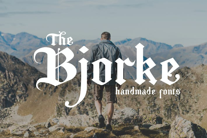 Thumbnail for The Bjorke - Handmade Fonts