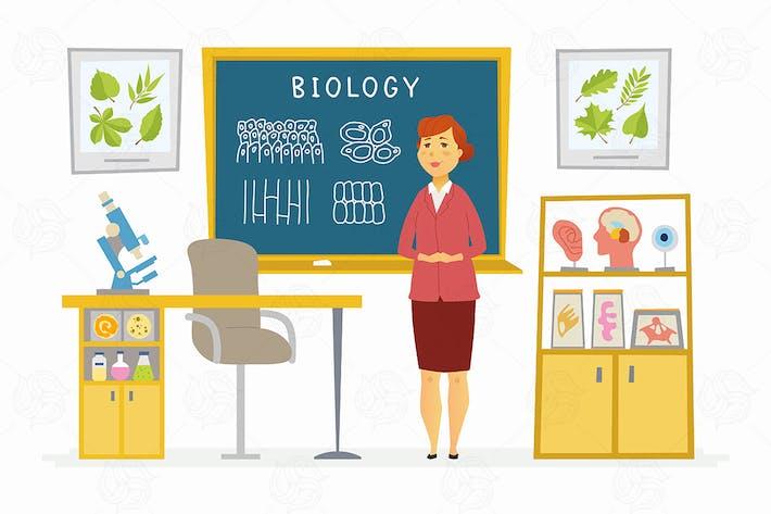 Thumbnail for Biology Classroom - vector illustration