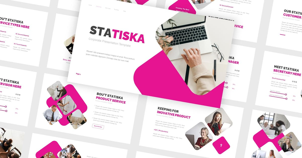 Download Statiska - Corporate Keynote Template by CocoTemplates
