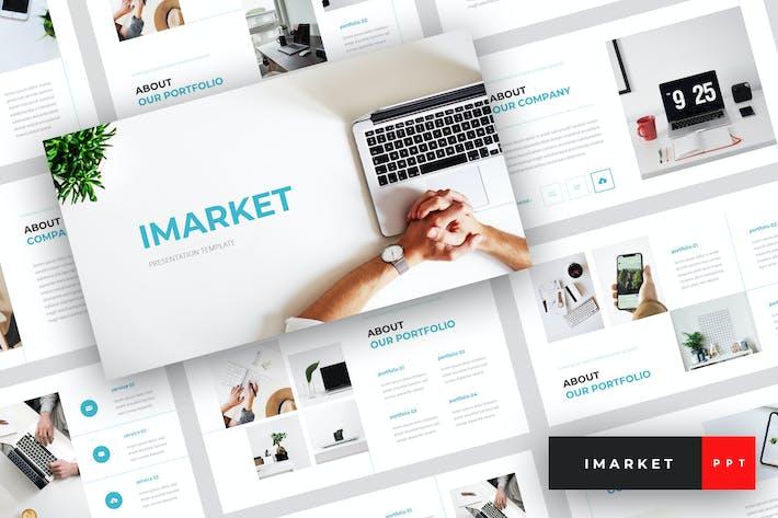 Thumbnail for Imarket - Internet Marketing PowerPoint Template
