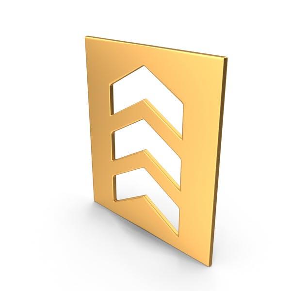 Символ стрелки золотой