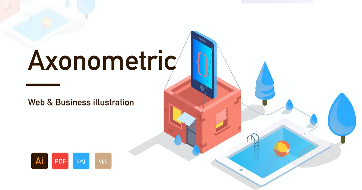 Download Axonometric Web and Business illustration-03 by htpvvv3