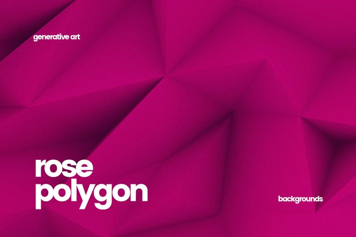 Thumbnail for Rose Polygon Backgrounds