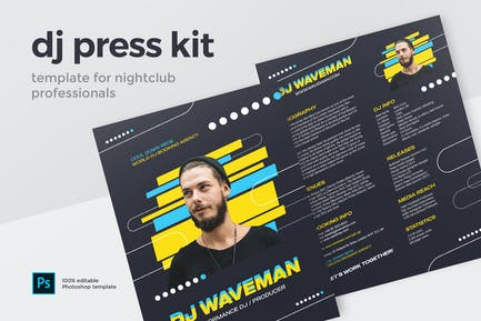 DJ Resume / Press Kit Template