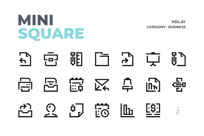 Thumbnail for Mini square - 60 Business Element Icons